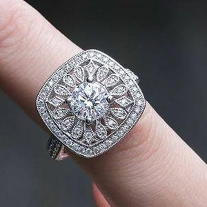 Jewelry - 925 Round Cut White Sapphire engagement Ring